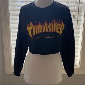 Thrasher Crop Long Sleeve Shirt